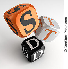 STD (Sexually transmitted diseases) box cubes - STD...
