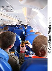 passengers in the aircraft from behind