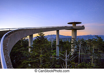 Clingman's Dome mountaintop observatory in the Great Smoky...