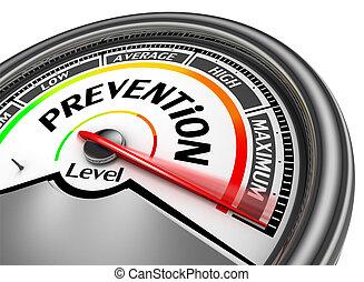 Prevención, salud, conceptual, metro, indicar,...