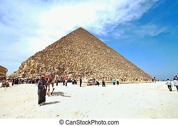 egypt, giza, cheops pyramid