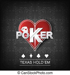Poker vector background - Poker vector illustration on a...