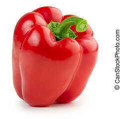 red bell pepper isolated on white background