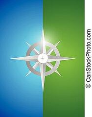 grey compass illustration design