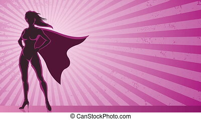 Super Heroine Background - Looping animation of super...
