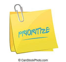 prioritize, post, memo, Illustration, design,