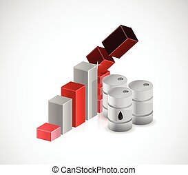 falling oil prices illustration