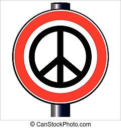 Ban the Bomb Road Sign