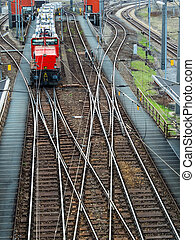 shunting in vienna - freight trains on a shunting in vienna...