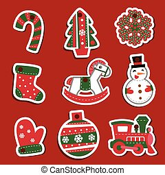 Vector Christmas tags or stickers for gifts. - For...