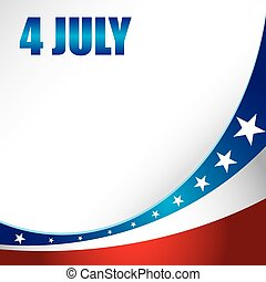 4th of july independence day background. Vector...