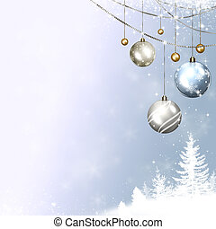 Winter Holidays - Winter bright snow background for...