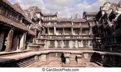 ancient temple in cambodia - ancient temple, angkor wat,...