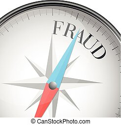 compass fraud - detailed illustration of a compass, with...