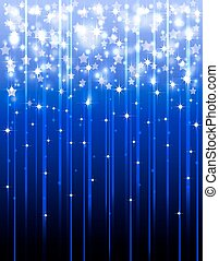 Festive background with shooting stars .