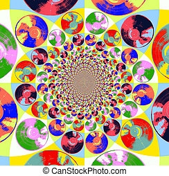 Pop Art Records Kaleidoscope 1 - Vintage Vinyl Pop Art...