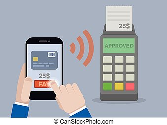Mobile Payment - detailed illustration of mobile payment...