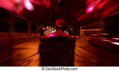 thailand, traditional taxi, pov - thailand, traveling by tuk...