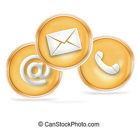 Contact Us Icon Design - Contact Us
