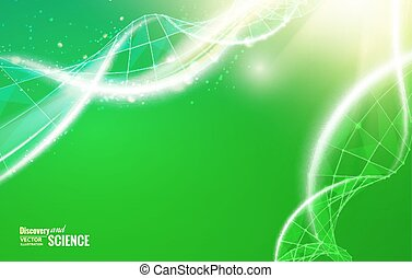 Abstract dna design. - Science template for your card,...
