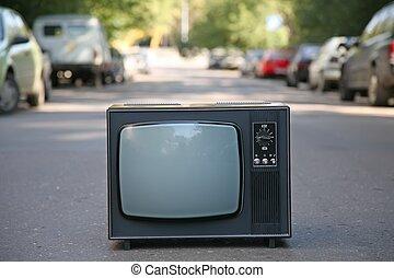 televisión, Conjunto, viejo