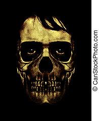 Dark Halloween Mask Portrait - Scary collage digital art...