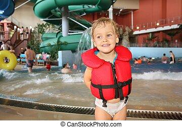 child in aquapark