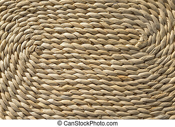Detail of a woven basket