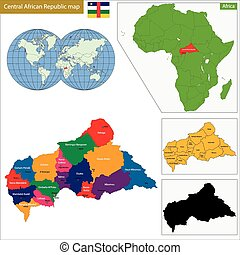 Central African Republic map - Map central African Republic...