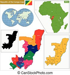 Republic of the Congo - Map of Republic of the Congo with...