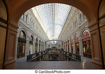 interior GUM in Moscow