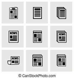 Vector newspaper icon set