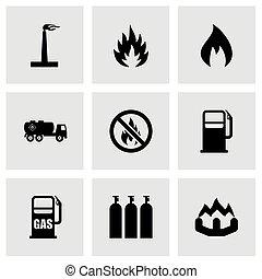 Vector natural gas icon set