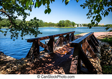 Kuskovo bridge - The bridge in Kuskovo park in Moscow,...