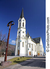 Church at village Cernova, Slovakia - CERNOVA, MARCH 8: Old...