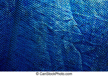 Blue plastic cloth texture, suitable for a background