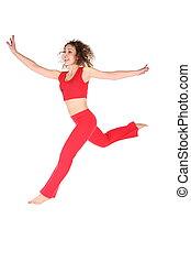 flying sport girl