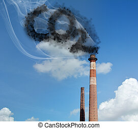 Carbon Dioxide - CO2, chemical symbol of carbon dioxide.