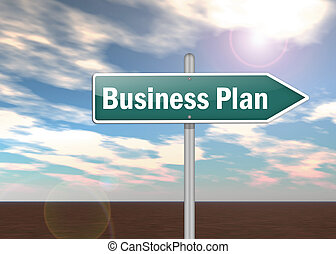 Signpost Business Plan - Signpost with Business Plan wording