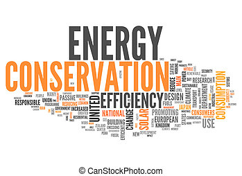 Word Cloud Energy Conservation - Word Cloud with Energy...