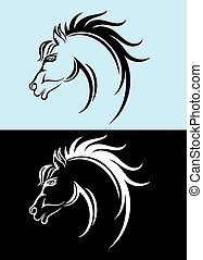Horse face, art vector ornament decoration