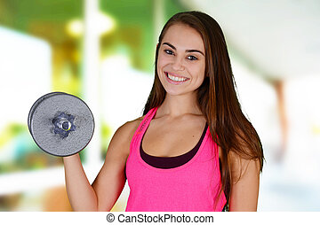 Woman Working Out - Woman working out while at the gym