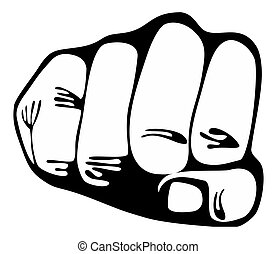 Power fist - Stock Image - Punching power fist - Stock Image...