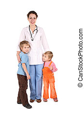 doctor with children