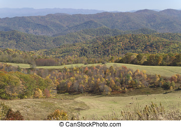 Mountain Color - Scenic view overlooking the picturesque...