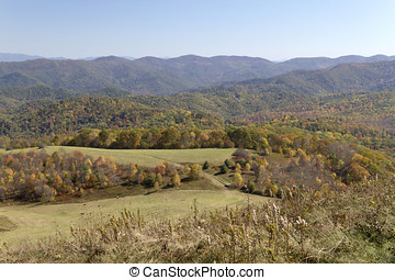Autumn Mountain View - Scenic view overlooking the...