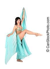 bellydance woman leg up