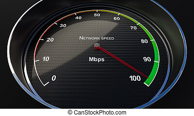 Network speed indicator - Internet speed with tachometer...