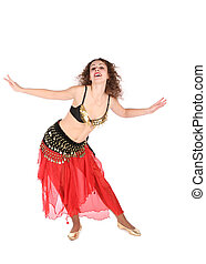 red belly dance woman
