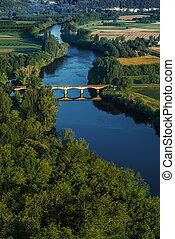 medieval bridge over the Dordogne river